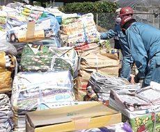 新聞3,590kg 雑誌1,080kg その他ビンカン類等で合計5,350kg
